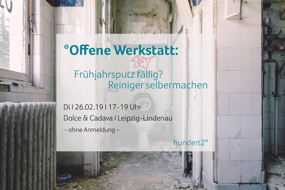 Flyer für offene Werkstatt Februar Leipzig