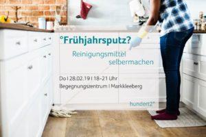 Flyer Workshop Markkleeberg Reinigungsmittel selbermachen